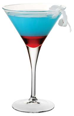 Red, white, and blue martini.