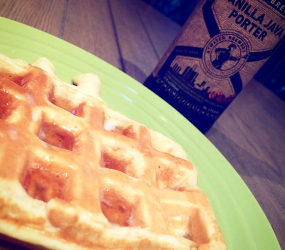 Lemon Coconut Waffles with Atwater Brewery's Vanilla Java Porter