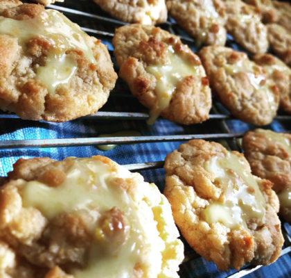 Orange White Chocolate Chip Cookies.